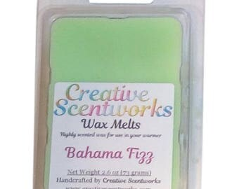 Bahama Fizz Scented Wax Melts, Wax Cubes, Wax Tart, Wickless Candle, Melting Wax, Wax Melt, Tropical, Scent Bar, Scent Cube, Wax Bar