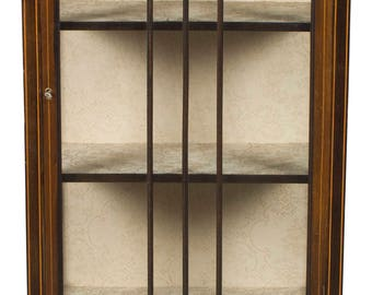 Vintage Single Door Display Curio Cabinet