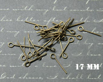 20 nails at 17mm bronze metal eyelet