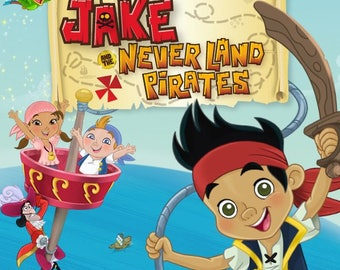104 Jake and the Never Land Pirates Clip Art -INSTANT DOWNLOAD -FOR cards, scrapbooking,digital art, printing, birthdays, party
