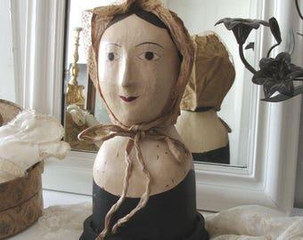 Shabby: Marotte / Papier mache head