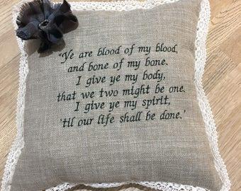 Outlander wedding cushion