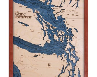 Pacific North West 16x20 3D Wall Chart