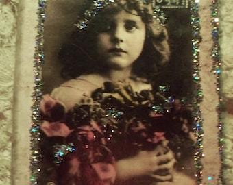 Vintage French Bonne Annee Hologram Glitter Password Journal 5 1/2 x 4