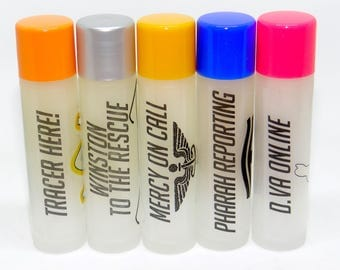 Beeswax Lip Balms, Overwatch Inspired, Five Flavors, Tinted and Untinted
