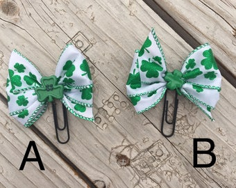St. Patrick's Day Planner Bow Clip