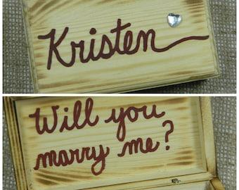 proposal ring box marry me proposal box groomsmen proposal