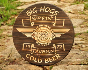 Personalized Man Cave Signs Etsy : Diy tavern sign etsy