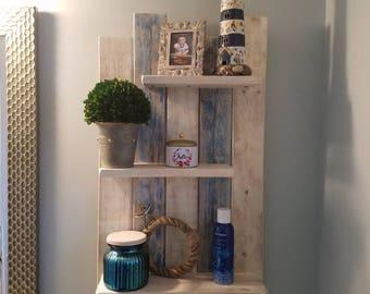 Rustic Shelf, Rustic Wall Shelf, Wall Shelf, Shelf Sign, Bathroom Shelf, Staggered Shelf, Shelf