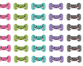 DumbBell  Fitness Stickers , 200 piece set , Journals , Calendar , Remember , Labels , Gym , Teens , Adults , Workout