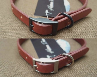 Bordeaux Handmade Leather Dog Collar