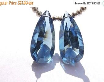 tITLE Christmas Sale 2 Pcs Matched Pair Beautiful Iolite Blue Quartz Concave Cut Pear Shaped Briolette Size 16*12 MM