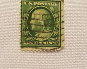 US Postage Stamp 1909 Benjamin Franklin Used