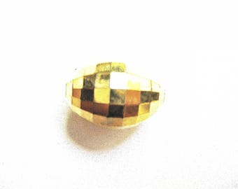 PEARL OVAL GOLD FACETTEE 15/20 MM