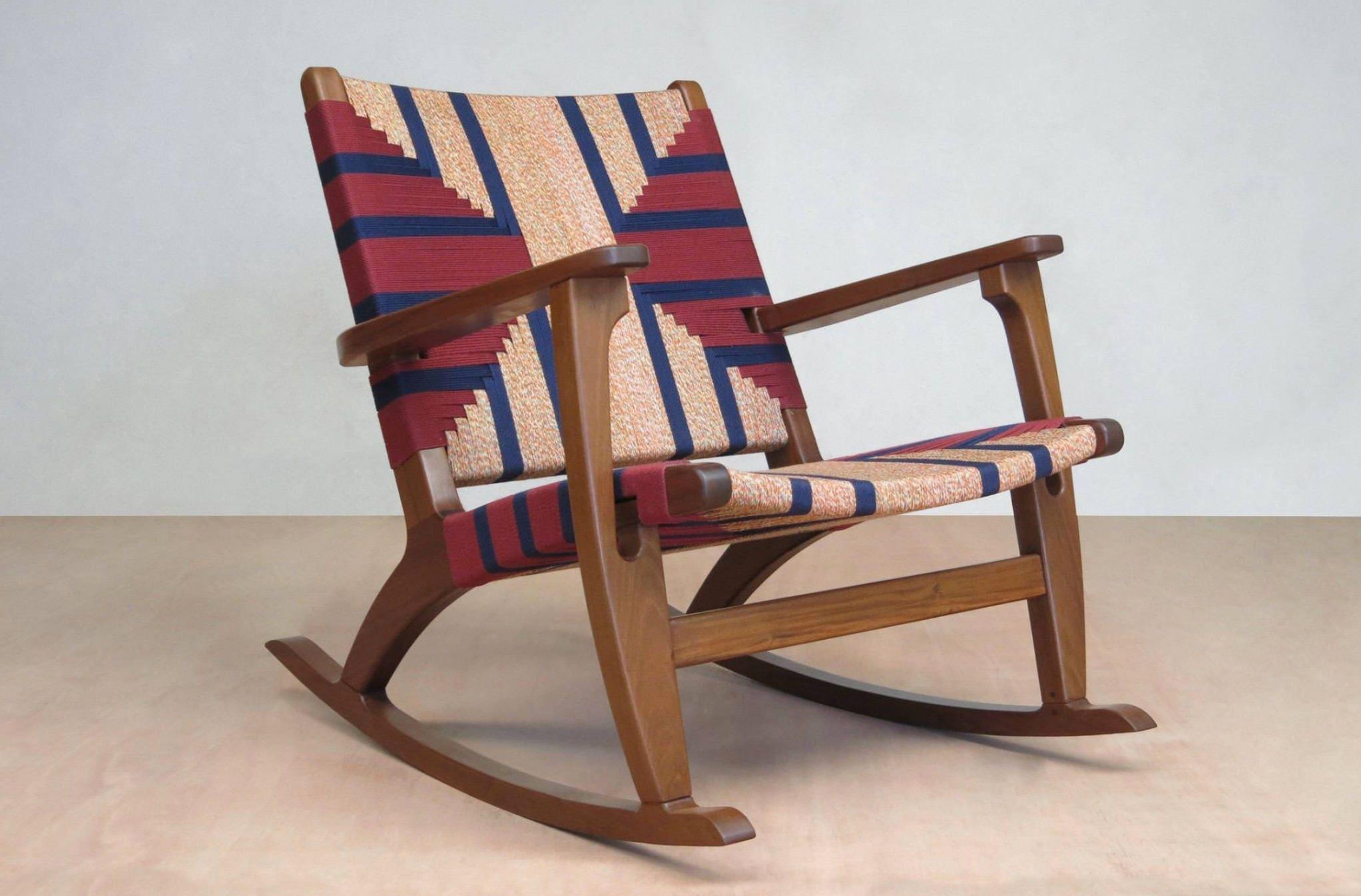 Deposit on Custom Woven Rocking Chair & Ottoman for Amanda Assadi
