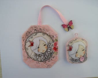 Bookmark and Keyring mirabelle and her Butterfly