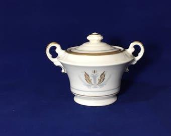 Governor Clinton Syracuse Handpainted China Sugar Bowl Made In America