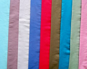 Cooling Scarves in a choice of 8 Plain Shades. Handmade in the UK in Pure Cotton.