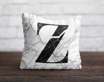 Monogram PillowCase Custom Luxury Throw Pillow Cover Marble Pillow Personalized PillowCase Silk Pillow Case Satin Pillow Cover Home Decor