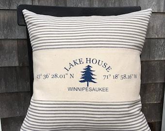 Custom Coordinate Pillow