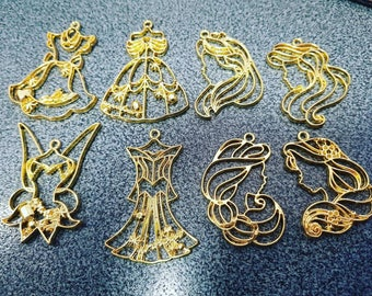 OPEN BEZEL Princesses-pendants for resin and UV resin 1pcs