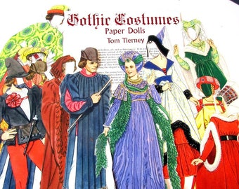 Gothic Costumes Paper Dolls, Images for Collages  / Scrapbooking / Journal/Paper Ephemera / Scrap Pack Bundle