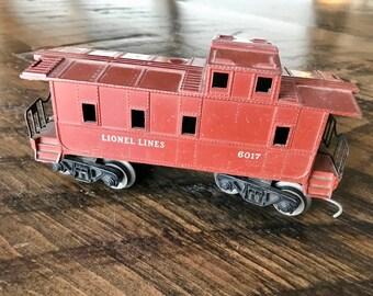 Vintage LIONEL LINES TRAIN 6017 Caboose, Collectible Train, Lionel Electric Trains, American Toys, Lionel Caboose