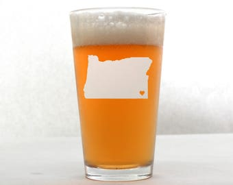 Custom Pint Glass - State Pint Glass - Pint Glass - Personalized Pint Glass - Wedding Pint Glass - Etched Pint Glass - Groomsmen Pint Glass