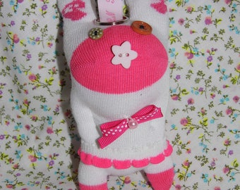 sock plush keychain
