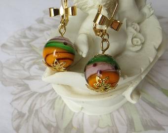 Lampwork Glass Bead earring