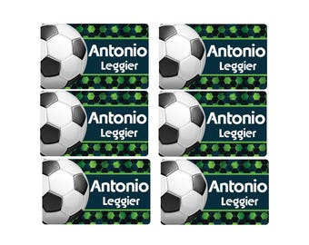 95ct Stick On Clothing Name Labels, Personalized Uniform Name Labels - Peel and Stick Clothing Soccer Labels, Washable Clothing Labels, Camp