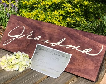 Handwriting Gift. Christmas Gift for Mom. Mother's Day. Handwritten Memory Sign. Real Handwriting Sign. Handwriting Decor. Personalized Sign