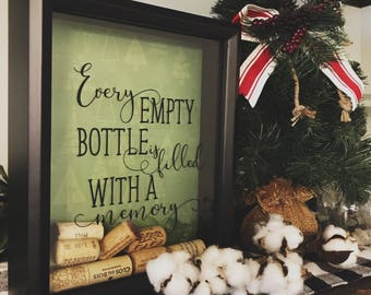 Wine Cork Holder. Gift for Wine Lover. Wine Cork Shadow Box. Wine Gift For Her. Wedding Gift Under 50. Christmas Gift Idea. Wine Party Decor