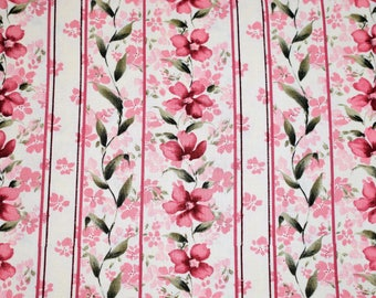 Floral Fabric, Savannah by Fabri-Quilt, Pink Floral Fabric, Floral Quilting Fabric, Rose Quilting Fabric, Pink Rose Quilting Fabric,