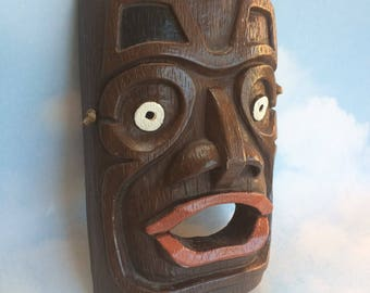 Tlingit Nation Native Pottery Shaman Mask Haida Vintage Reproduction Northwest