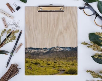 Wood Clipboard | Tahoe No 2281, Natural Wood, Unique Clipboard