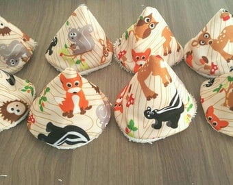 Set of 8 cones pee teepee (or pare Teepees) animals of the forest for changing baby