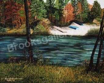 Fine Art Oil Painting - Lake Lynn by Bonnie Brooks