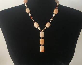 Creamy Orange Aventurine Necklace