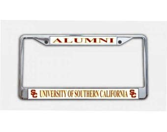 University Of Southern California Alumni Chrome License Plate Frame
