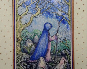 Hand finished Art Print ' The Contemplative'