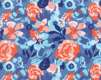 Moda VOYAGE by Kate Spain-Kew in baltic blue (27281 13)-by the YARD