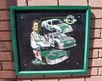 Dale Earnhardt Jr.,Wall Decor, Upcycled T-shirt,
