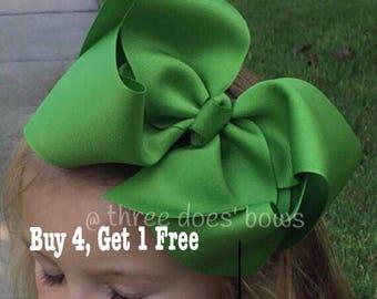 """Jumbo Bows, 7-8"""" Bows, Jumbo Hair Bow, Big Southern Bows - 7 inch Bows - 7"""" Bows - 7"""" Hair Bows - XXL Hair Bows - Jumbo Hairbows"""