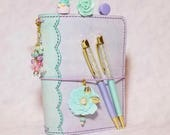 Special Mermaid Edition Scalloped Lace Spine Pelledori Collection, with Scallop Inner Pockets/Planner/Hobonichi/ Travelersnotebook