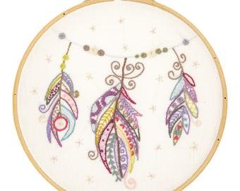Kit to embroider fairy flight