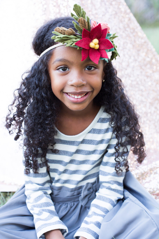 Christmas floral crown felt headband flower hair wreath kids christmas floral crown felt headband flower hair wreath kids flower crown photography izmirmasajfo