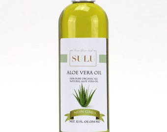 100% Pure and Organic All Natural Aloe Vera Oil 4 oz up to 7 lbs