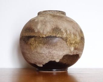 Ruscha Round Fat Lava Vase - Form 802 - West German Pottery