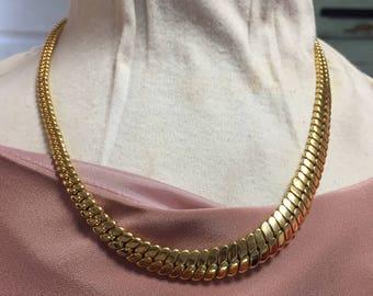 Vintage Napier Gold descending necklace